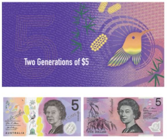 2 Note $5 Folder Two Generations 2015 Old 2016 New