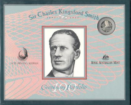 $20 Kingsford Smith 1997 $20 Note & $1 Silver Coin
