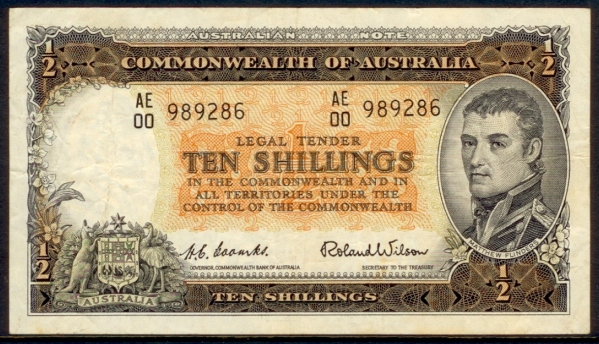 R16 Coombs-Wilson Commonwealth 10/- Prefix AE00